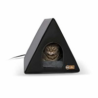 """K&H Pet Products Heated A-Frame Gray/Black 18"""" x"""