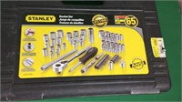 65 Pc. Stanley Socket Set- SAE & Metric-New