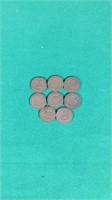 8- Indian Head Pennies