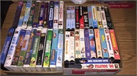 2- Boxes Of VHS Movies- Disney/ Adult