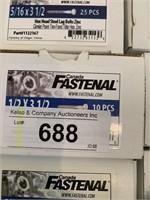 Lot-Fastenal Hex Head Steel Lag Bolts