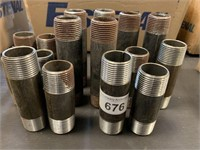 Lot of Steel Pipe Fittings