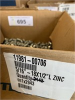 "Box Zinc 5/16"" x 1/2"" Grub Screws"