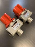 (2) SMC VHS40-No4-Z Pressure Valves