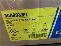 """#300 Plain 3/8"""" Reversible Beam Clamps"""