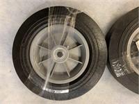 "Pair of HD 10"" Hard Rubber Wheels"