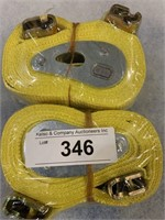 "(2) 2"" X 12' E-Track Tied Downs-NEW"