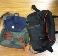 Lot of 2 Bags - Duffle & Knapsack