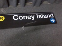 "NQR Coney Island Sign 92"" x 14"""