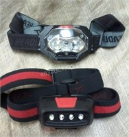Lot of 2 LED Head Lamps - Working