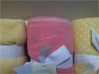 """Lot of 3 NEW George Baby Blankets 30"""" x 36"""""""