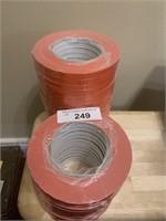 Bulk Lot of Orange Single Faced Tape