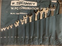 SIGNET 14Pc Combination SAE Wrench Set