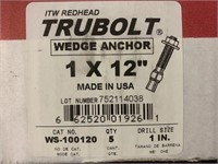 """REDHEAD 1"""" x 12"""" Wedge Anchors"""