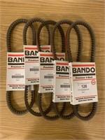 (5) Bando BX32 V-Belts