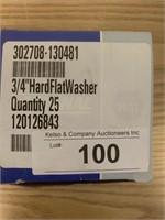 """3/4"""" Hard Flat Washers"""