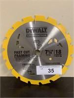 """DeWalt 7 1/4"""" Fast Frame Cutting Saw Blade"""