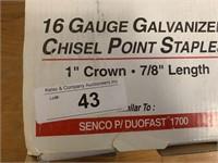 Spotnails 16Ga Chisel Point Galvanized Staples