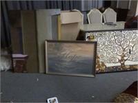 Lot of 3 Large Framed Art