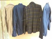 Lot of 4 Asstd Mens Shirt Sz M - J Crew, Stafford