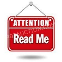 Things You Need To Know About This Auction!