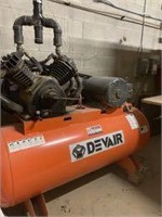 DEVAIR Model 447 Horizontal Air Compressor