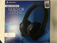 PLAYSTATION GOLD WIRELESS HEADSET (IN SHOWCASE)