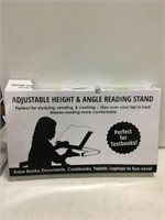 ADJUSTABLE HEIGHT AND ANGLE READING STAND