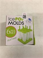 ICE POP MOLDS 6 PC SET