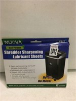 NUOVA SHREDDER SHARPENING & LUBRICANT SHEETS 12