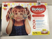HUGGIES 9 PACKS WIPES