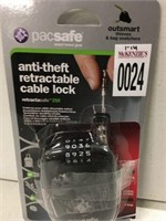 PACSAFE ANTI-THEFT RETRACTABLE CABLE LOCK