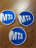 "Lot of 3 MTA Patches 3""diam"