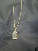 """14K Ladies 9"""" Gold Necklace with Pendant"""