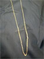 "14K Ladies 9"" Gold Necklace"