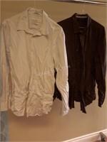 Lot of 2 Mens Shirts Sz L Calvin Klein & Ellis