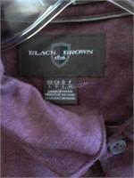 Lot of 2 Mens Tops Sz L - Black Brown & Denver