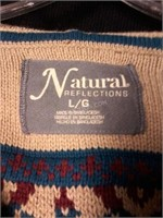 Natural Reflections Ladies Sweater Sz L