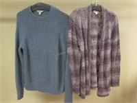 Lot of 2 Ladies Sweaters Sz S