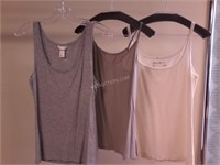 Lot of 3 Ladies Tank Tops Sz S