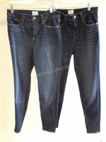 Lot of 2 J. Crew Ladies Jeans Sz 28