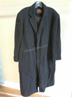 Brogue Wool & Cashmere Mens Coat Appears Sz XL