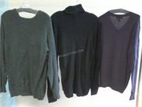 Lot of 3 Asstd Mens Sweaters Sz M