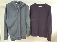Lot of 2 Mens Sweatshirts Sz S & M - Levis & H&M