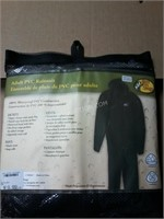 NEW Bass Pro Shop Adult PVC Rainsuit Sz L NWT $20