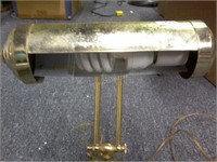 """Brass Desk Lamp - Adjusable Height from 11"""""""