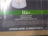 NEW Canarm RIO Seeded Glass Outdoor Lantern $50