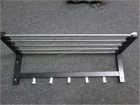 Ikea Wood and Metal Shelf Coat Rack - Appears NEW