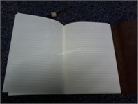 """Lot of 2 Leather Journals 6"""" x 8.5"""" - AS/IS $90"""