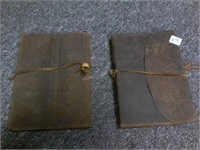 Lot of 2 Reverand Character Leather Journals